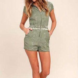 RVCA Pants - RVCA Olive Green Romper